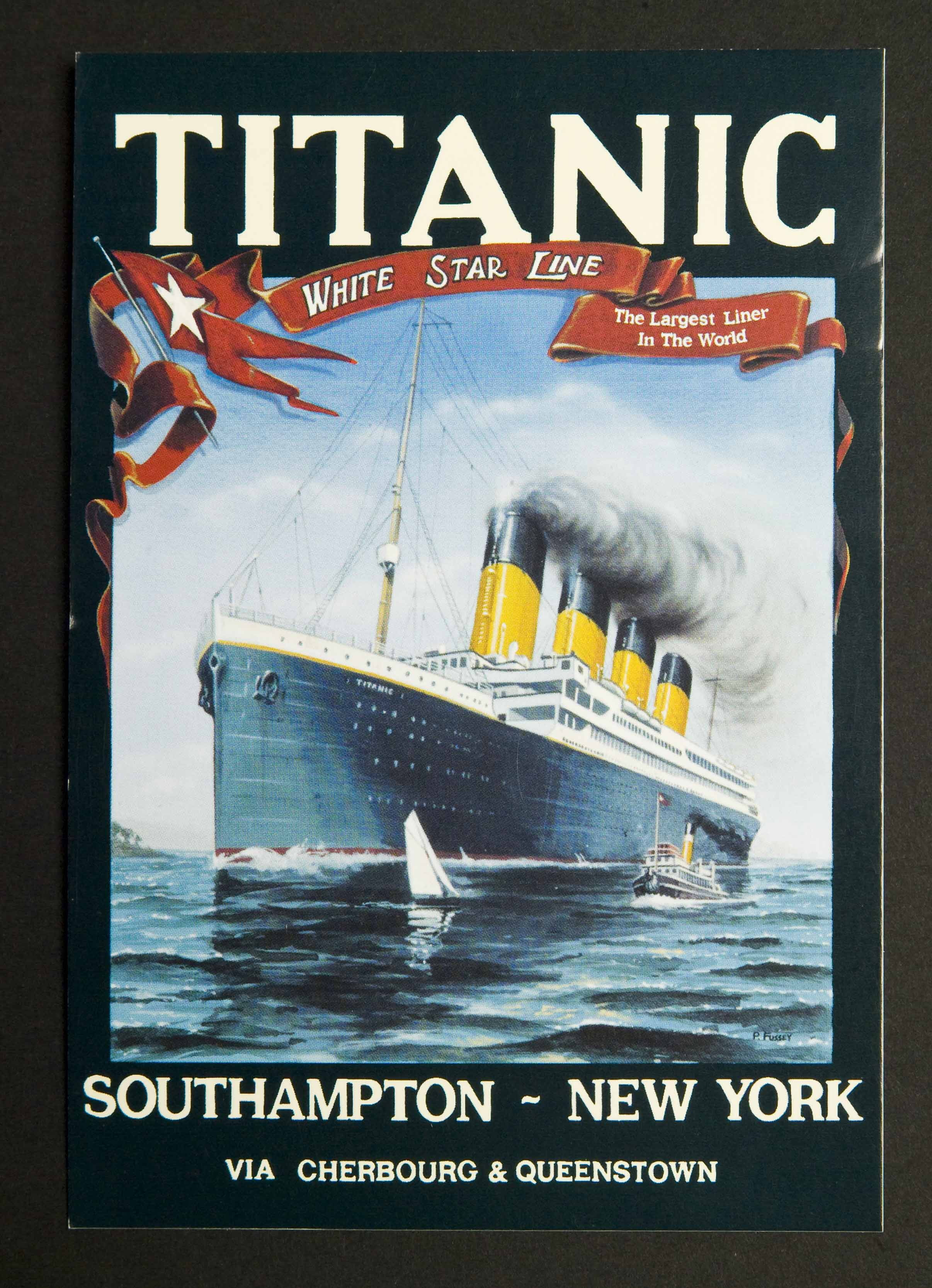 "White Star Line ""Titanic"" Postcards (6)"